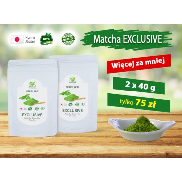 EXCLUSIVE Matcha Green Tea  - 2 x40g